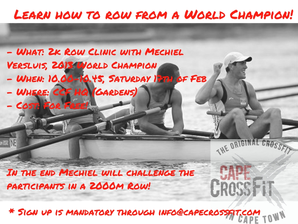 Rowing & Bar Muscle Up Clinics - THIS Saturday the 17th of February!