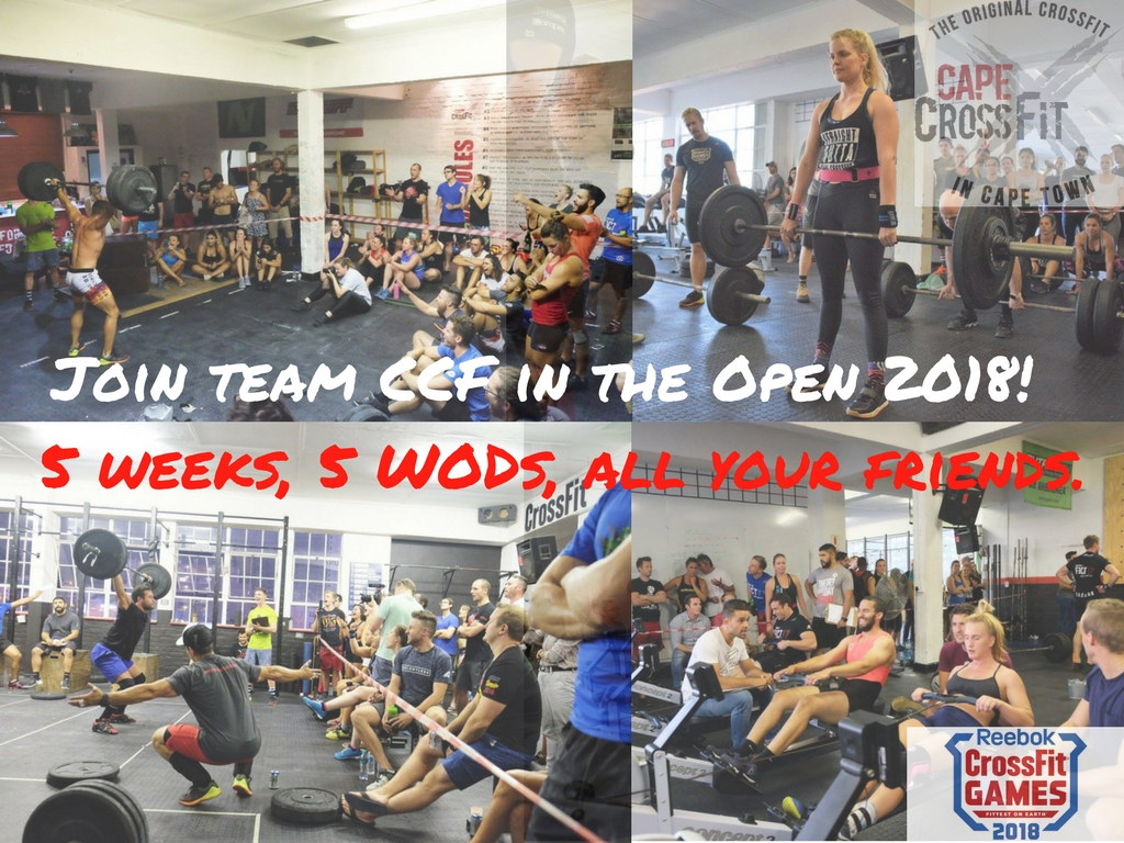 Sign up for the CrossFit Games Open 2018 - be part of one of the