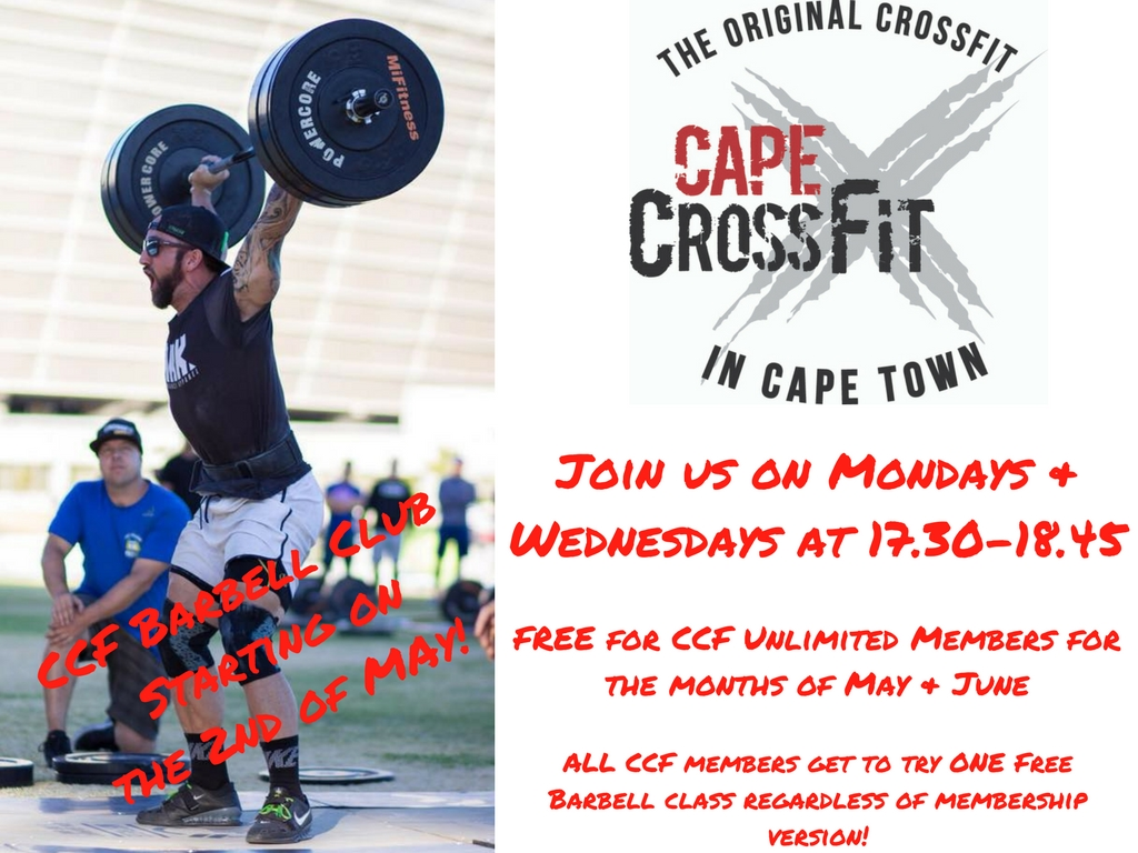 CCF Barbell Club - Open for trial for ALL CCF Members
