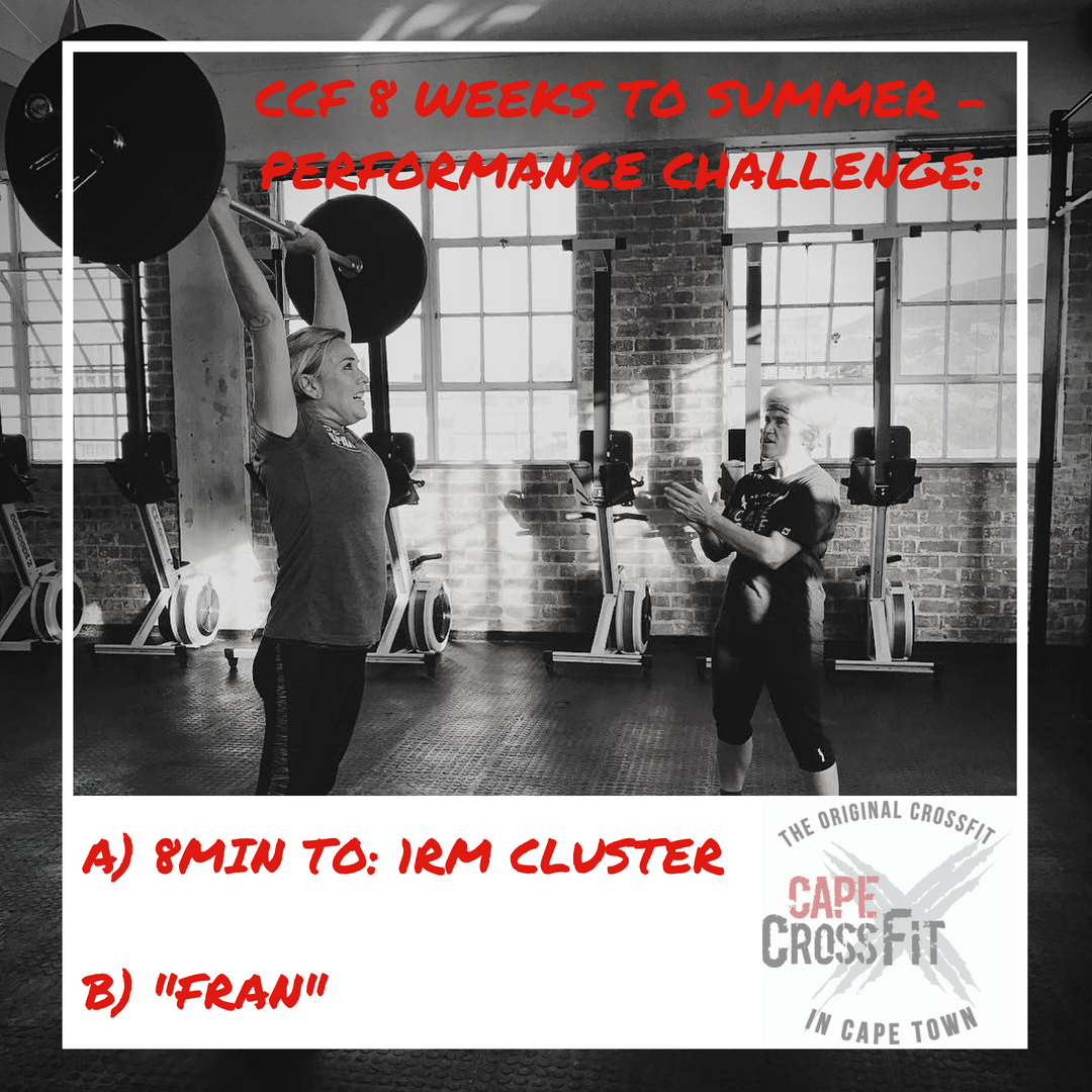 CCF 8 Weeks to Summer - Performance Challenge starts TOMORROW and it's Frantastic!